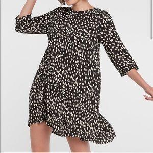 Hayden Los Angeles Asymmetrical-Dotted Swing Dress